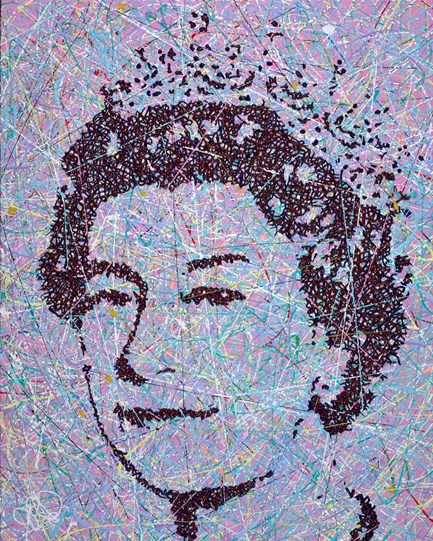The Queen by Jim Dowie - Original Painting on Box Canvas